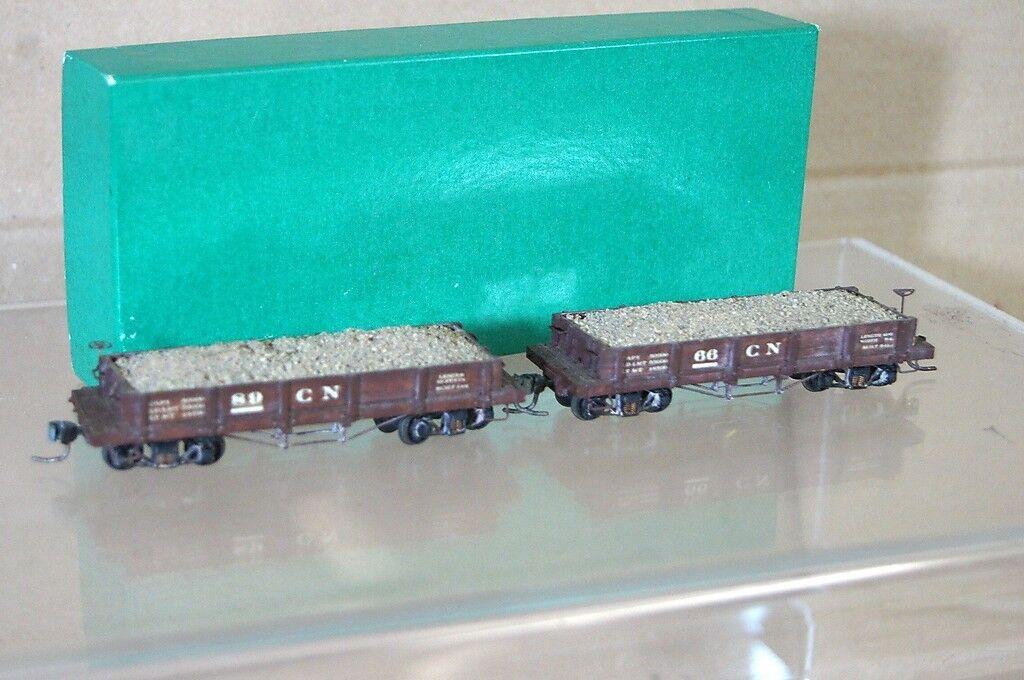 BINKLEY KIT BUILT HOn3 NARROW GAUGE COLORADO NORTHERN CN ORE WAGON & LOAD x2 nd