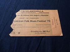 TICKET AMERICAN FOLK BLUES FESTIVAL 1972 BERLIN GERMANY !!!!!!!!!!!!!!!
