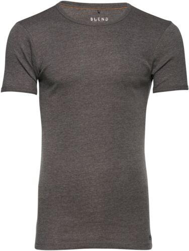 BLEND Herren Rundhals T Shirt Kurzarm Uni Super Slim Fit NEU 20704176