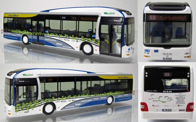 "Rietze 03-175 MAN Stadtbus Lions City Hybrid Facelift 2-Türer "" Leobus Leipzig """