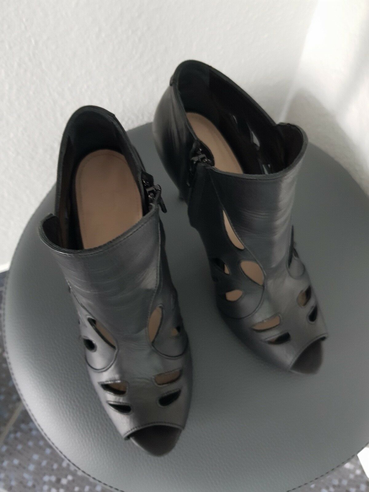 SUPERTRASH Booties Sandaletten Booties SUPERTRASH Schwarz Leder Gr. 40 45dac5