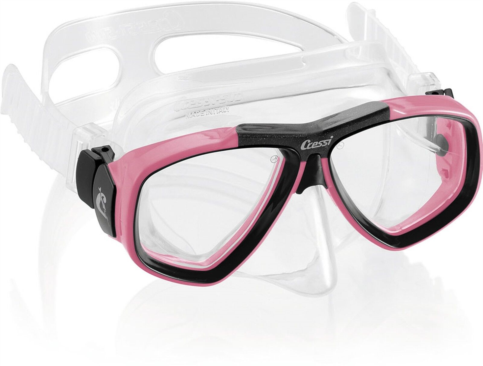 Cressi Sub Focus 2 Lens Scuba Diving Silicone Mask Made in  Pink