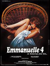 Affiche 120x160cm EMMANUELLE 2 (1984) Francis Leroi, - Sylvia Kristel TBE