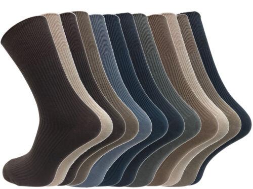 12 Paires Men/'s assorties 100/% coton Diabetic Designer Chaussettes UK 6-11 EU 39-45