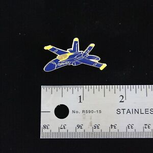 US Navy Blue Angels F-18 Hornet Side View Hat Pin