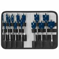 14 Piece Bosch Pro Wood Hole Spade Bit Set W Storage Case, Fast Drilling Cutting