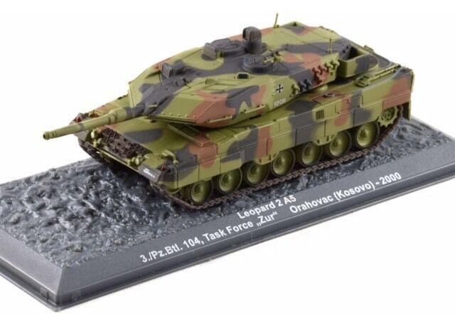 Leopard 2 A5 3 pz.btl. 104 TASK FORCE   zur   Orahovac (KOSOVO) 2000 NUOVO 1 72
