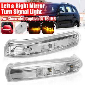 Izquierda-amp-Derecho-Espejo-LED-Lampara-Luz-de-Senal-de-Vuelta-Para-Chevrolet-Captiva-07-16-LHD