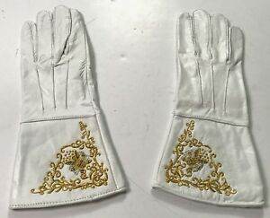 CIVIL-WAR-US-UNION-EMBROIDERED-LEATHER-GAUNTLETS-GLOVES-MEDIUM