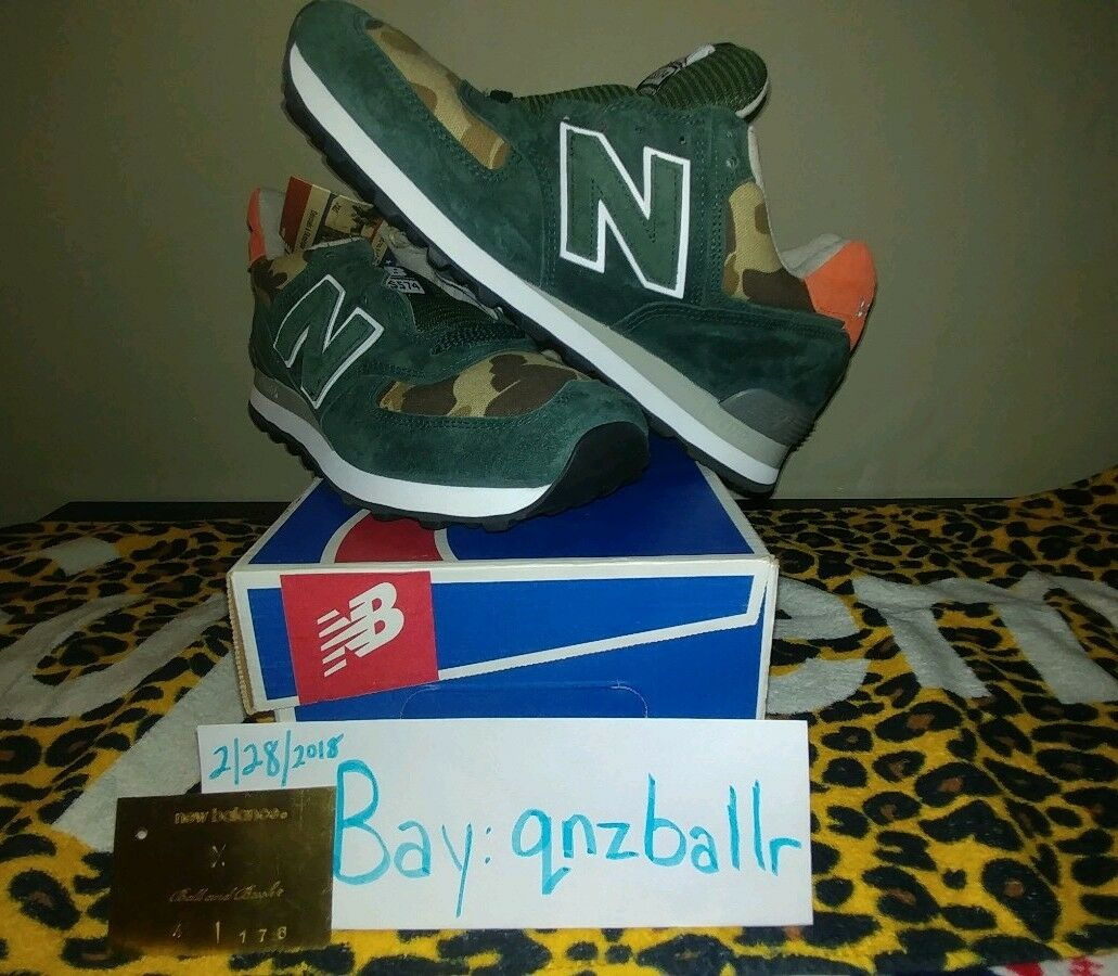 New New New Balance x Ball and Buck US574 M1   Camo   Mountain verde   Dimensione 8 DS RARE OG 1d3161
