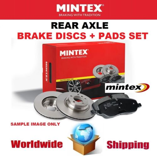 MINTEX Rear Axle BRAKE DISCS   BRAKE PADS SET for SEAT TOLEDO II 1.6 2005-2006