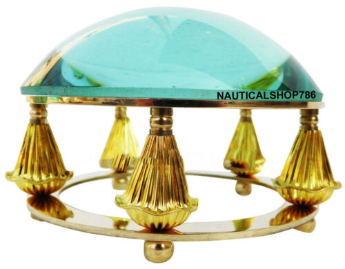 Shiny Brass Desk Magnifying Glass Paper Weight Collectibles Item For office