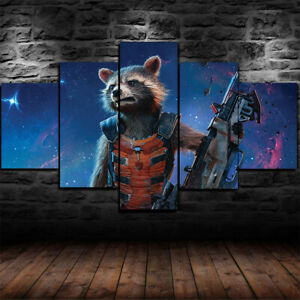 Marvel Comics Rocket Guardians Of The Galaxy Wall Art Framed Canvas Pictures