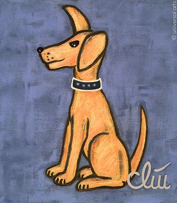JACQUELINE DITT - Der wachsame Hund A4 DRUCK n.Gemälde Hunde Bilder dog Tier art