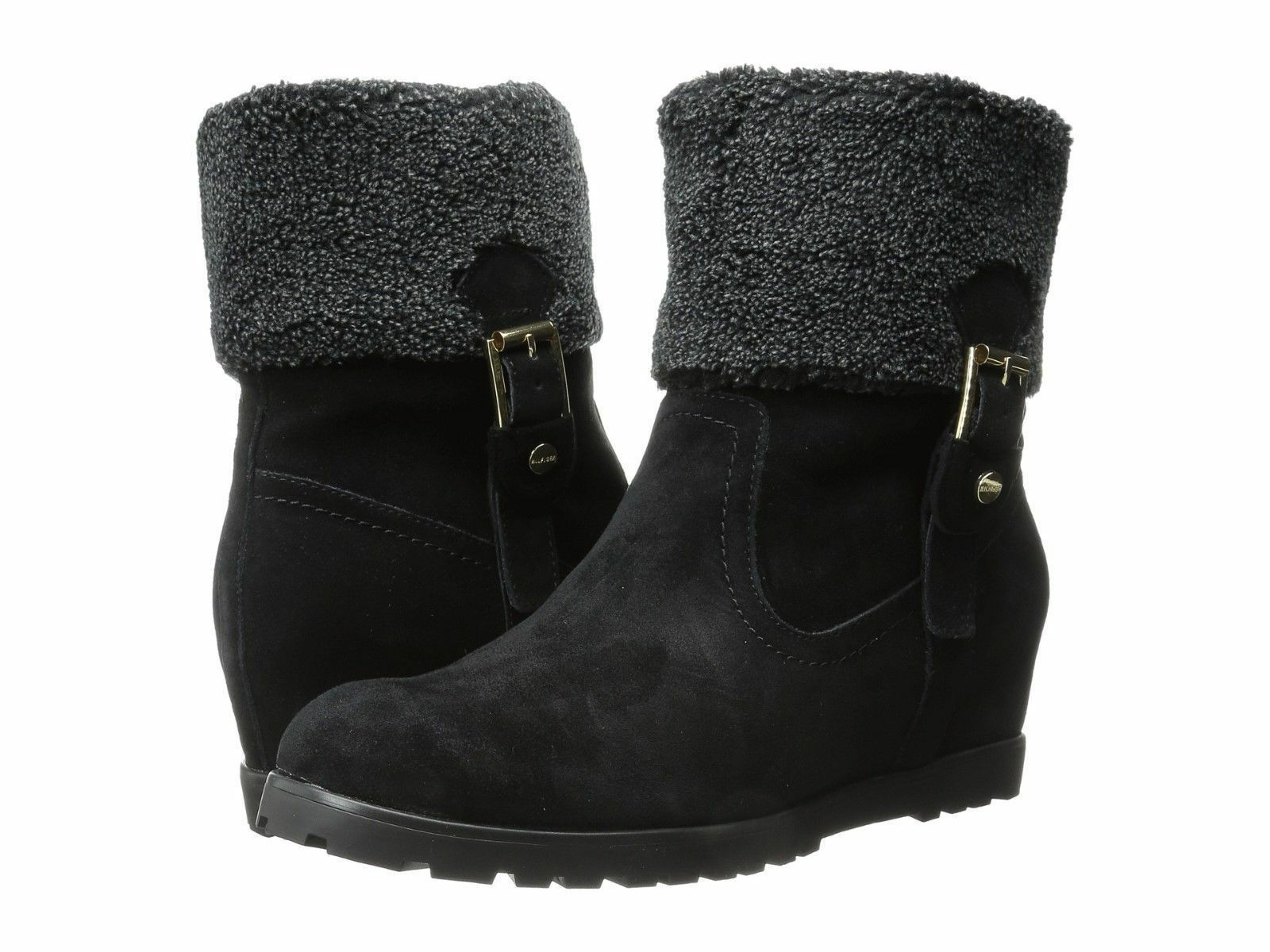 Tommy Hilfiger Women's Boot Ankle Soffia Suede Booties Black 7.5M