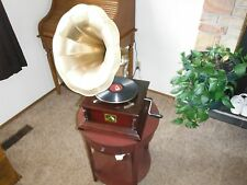 RCA Hand Cranked Brass Horn His Master's Voice Sound Box Gramophone Company
