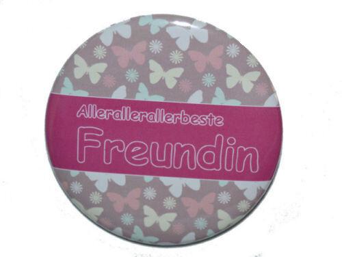 Kühlschrankmagnet rund 50mm Magnet mit Spruch Allerbeste Freundin