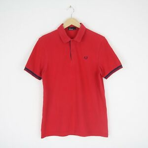 54ac9e07 Mens Vintage Fred Perry Laurel Wreath Tipped Polo Slim Fit Pique Red ...