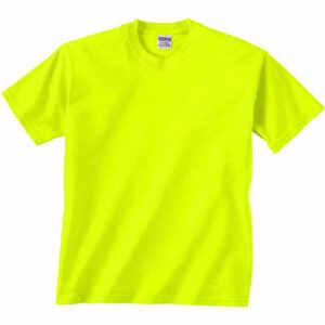 Safety Yellow Shirts >> 12 T Shirts Gildan Safety Green Orange Ansi High Visibility Blank