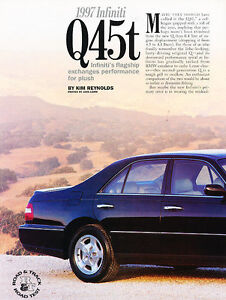 1997 Infiniti Q45t - Road Test - Classic Article A26-B | eBay
