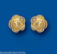 Rose Earrings Yellow Gold Rose Studs Rose Stud Earrings