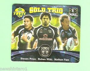 Details about 2007 GOLD SERIES RUGBY LEAGUE TAZO - #63 GOLD TRIO, NEW  ZEALAND WARRIORS