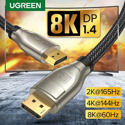 Ultra HD 8K 7680 x 4320 @ 60Hz M Proyector Compatible con HBR3 2 Pack Puerto de Pantalla de Alta Velocidad para PC TV Monitor Cable DisplayPort 8K de 2 Metros Cable DP 1.4 Macho a DP Macho