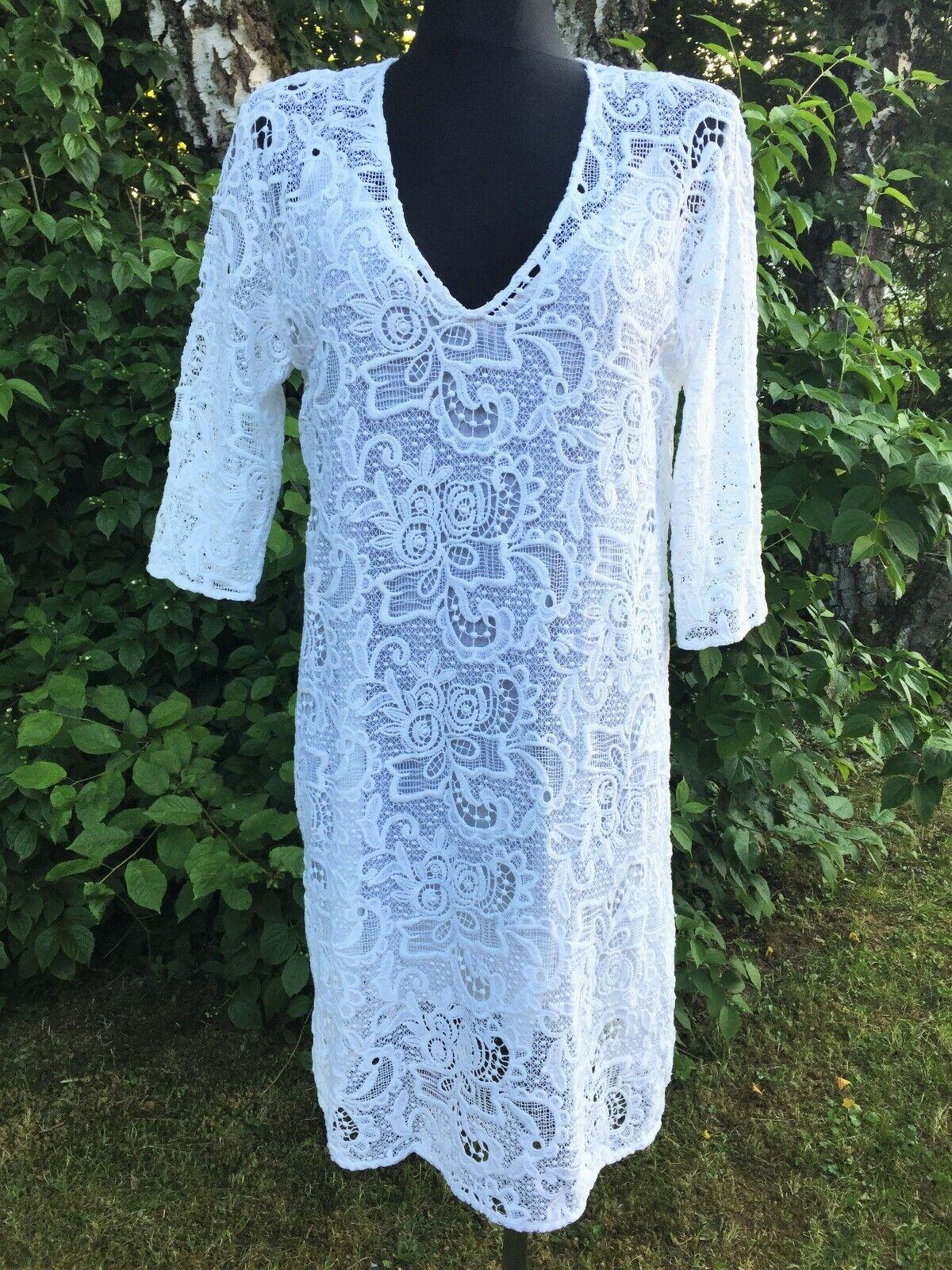 Jadicted edel Kleid aus Spitze Gr.L weiß