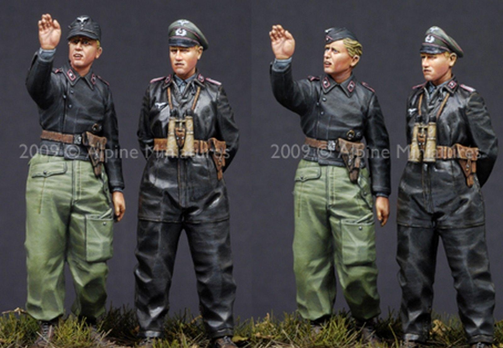 ALPINE MINIATURES, 35086, German Heer Pz Crew 2 figures set, SCALE 1 35