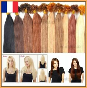 50-100-150-200-EXTENSIONS-DE-CHEVEUX-POSE-A-CHAUD-100-NATUREL-REMY-HAIR-49-60CM