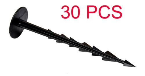 30 PEGS FLEXIBLE GARDEN LAWN GRASS EDGE LONG 10 M PLASTIC BORDER WALL
