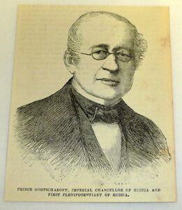 1878-Rivista-Incisione-Alexander-Gortschakoff