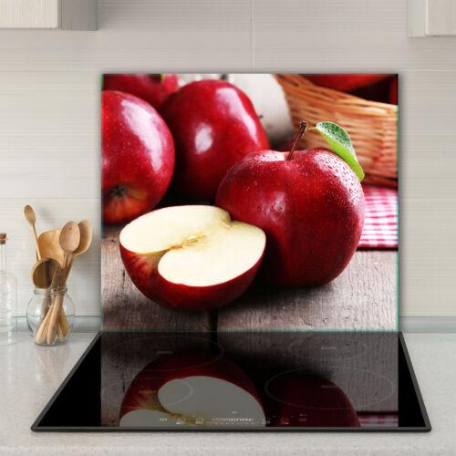 Herdabdeckplatten Ceranfeldabdeckung Spritzschutz Glas 60x52 Apfel