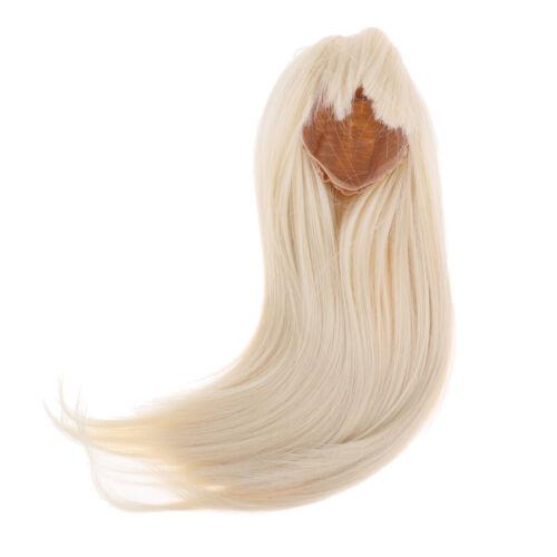 1//3 BJD Doll Full Perücke 9 10inch 22 24cm für DOD SD DZ Gold Glattes Haar