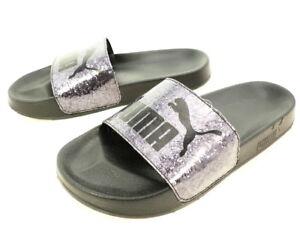 Image is loading PUMA-Women-039-s-Leadcat-Slide-Sandal-Purple- b366f2813