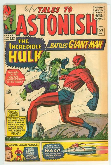 TALES TO ASTONISH 59 5.5 GIANT MAN VS HULK NICE PAGES TC