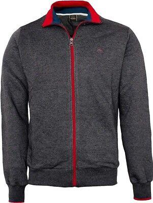 Maglia Maglione Maniche Lunghe Zip Antracite Uomo Merc Sweater Men Loong Sleeves