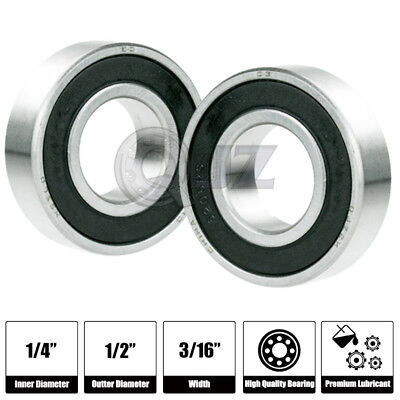 """Pack of 10 R188-2RS 1//4/""""x 1//2/""""x 3//16/"""" R188RS inch Miniature Radial Ball Bearing"""