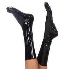 Brand New Black Latex Rubber Gummi Socks (one size)