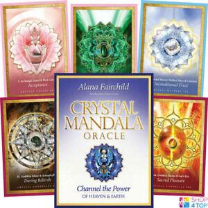 Crystal-Mandala-Oracle-Deck-Cards-Alana-Fairchild-Geheimlehre-Blue-Angel-New