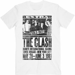 The-Clash-039-Live-At-Bonds-NYC-1981-039-T-Shirt-Official-Merchandise