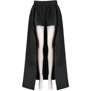 Asli-Polat-Black-High-Waisted-Caped-Shorts-FR40-UK12
