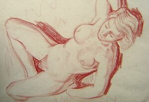 FIGURE-STUDY-A-SLEEPING-NUDE-IN-RED-CRAYON-ENG-SCH-C1930