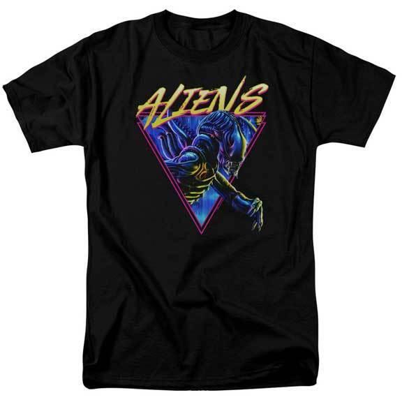 Alien Movie colorful Neon Xenomorph Adult T Shirt