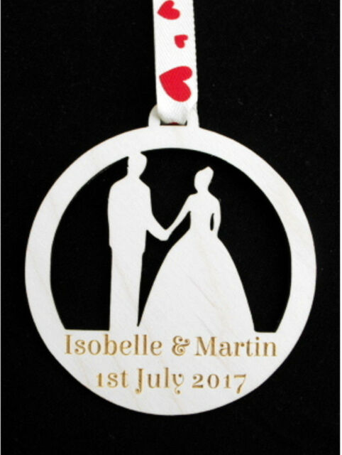 Personalised Wedding Day Gift Love Hearts Keepsake Plaque Anniversary Engagement