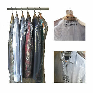 612f432205f5 Image is loading Garment-Covers-Polythene-Dry-Cleaner-Bags-Clear-Plastic-