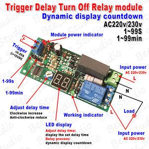 ac 220v 230v led display countdown timing timer delay turn time relay module ebay