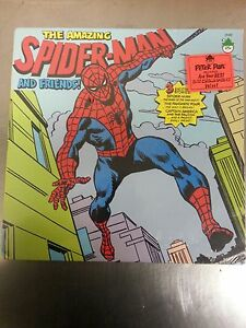 1974-Peter-Pan-Records-8146-The-Amazing-Spider-Man-and-Friends-SEALED-VHTF