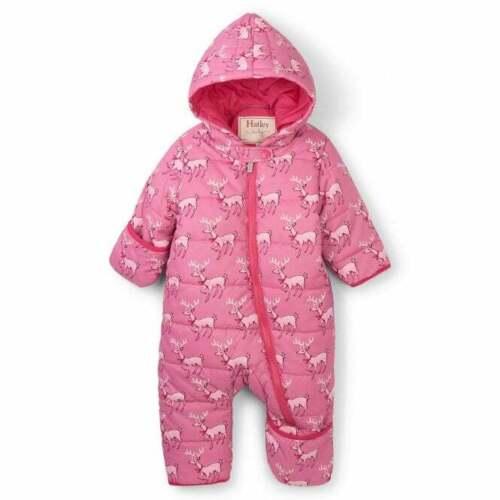 Hatley Baby Waterproof and Insulated Pink Snowsuit Darling Deer Print
