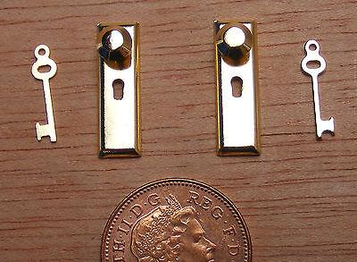 1:12 Scala Ottone Manopola Lock & Key Set Maniglia Porta Casa Delle Bambole Accessorio Fai Da Te 675-mostra Il Titolo Originale Ricambio Senza Costi A Qualsiasi Costo